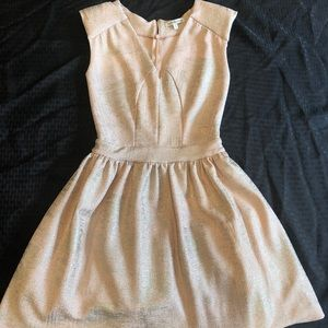 Charlotte Russe Gold Stain Mini Dress